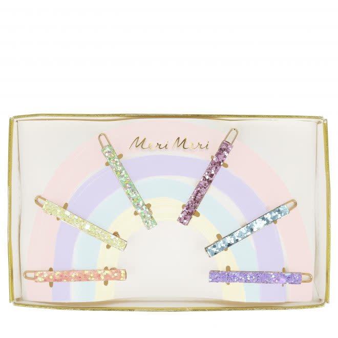 MERIMERI Rainbow glitter hair clips
