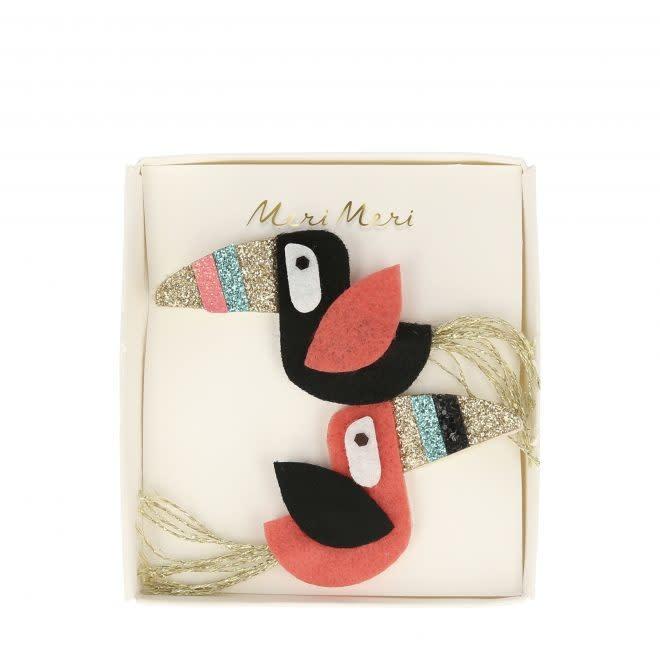 MERIMERI Toucan felt hair clips