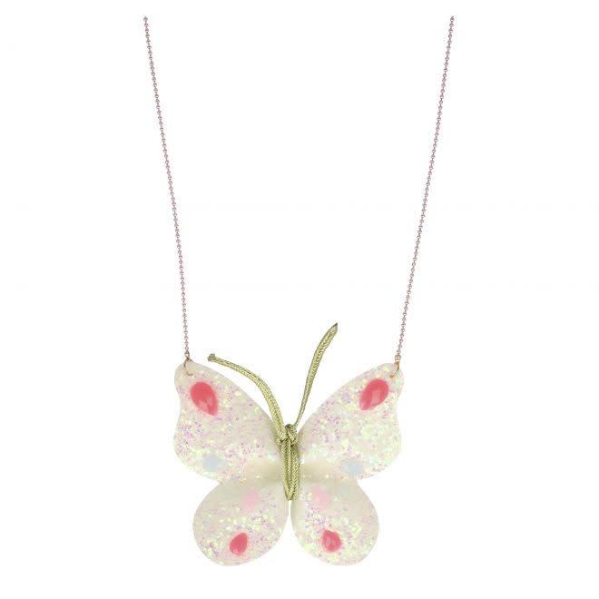 MERIMERI Butterfly glitter necklace