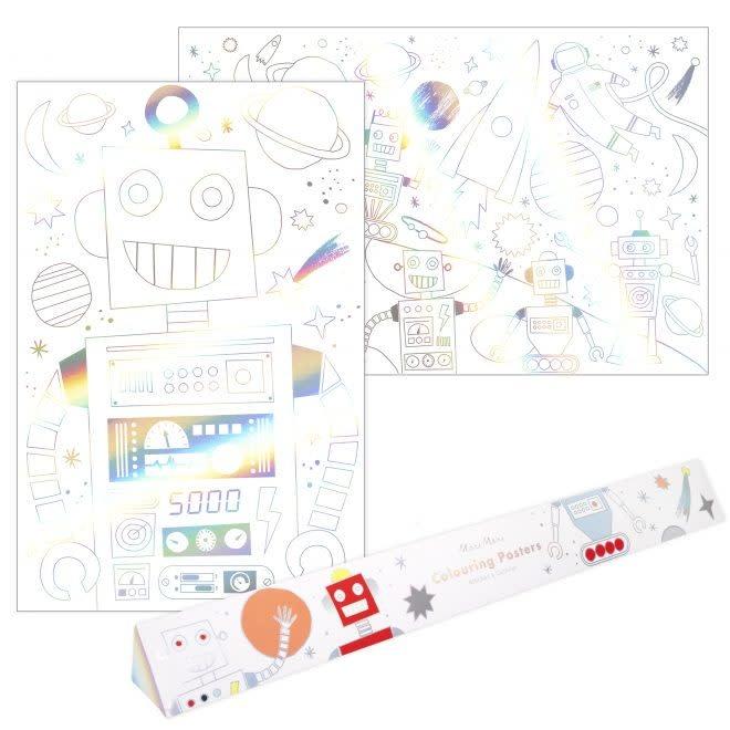 MERIMERI Space coloring posters