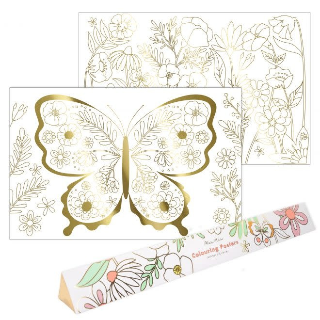 MERIMERI Butterfly coloring posters