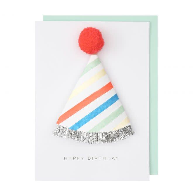 MERIMERI 1st birthday hat card