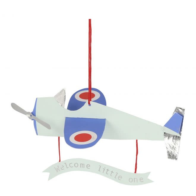 MERIMERI Aeroplane baby card