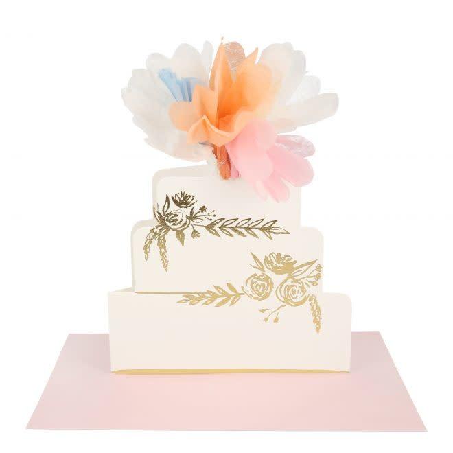 MERIMERI Floral cake stand-up card