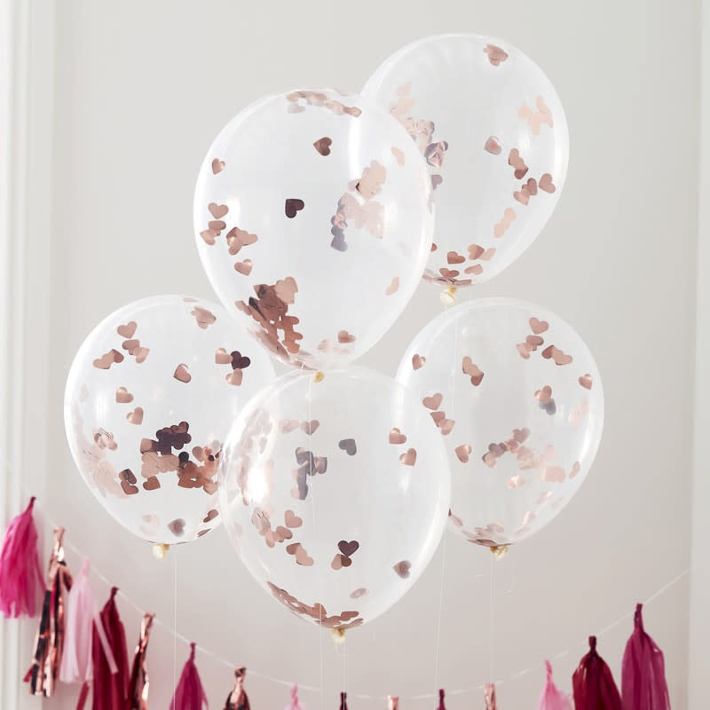 GINGERRAY Rose Gold confetti balloons- Hey Good Looking