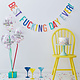 GINGERRAY Happy Birthday banner and balloons- Naughty Party