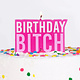 GINGERRAY Pink Birthday Bitch Cake Candle- Naughty Party