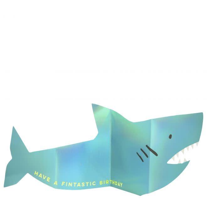 MERIMERI Metallic shark concertina card