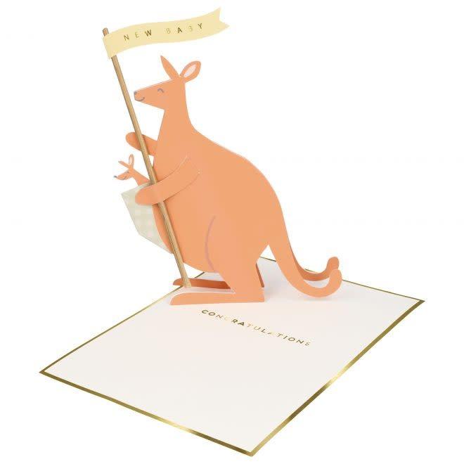 MERIMERI Baby kangaroo stand-up card