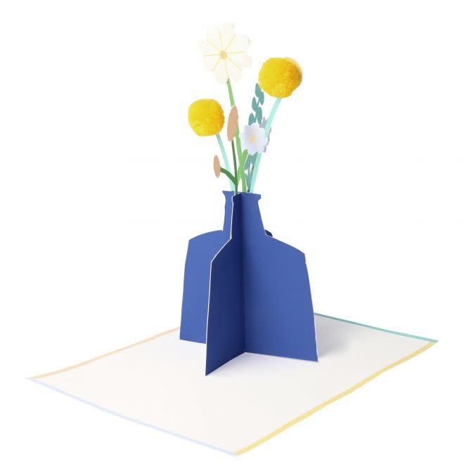 MERIMERI Flower vase stand-up card