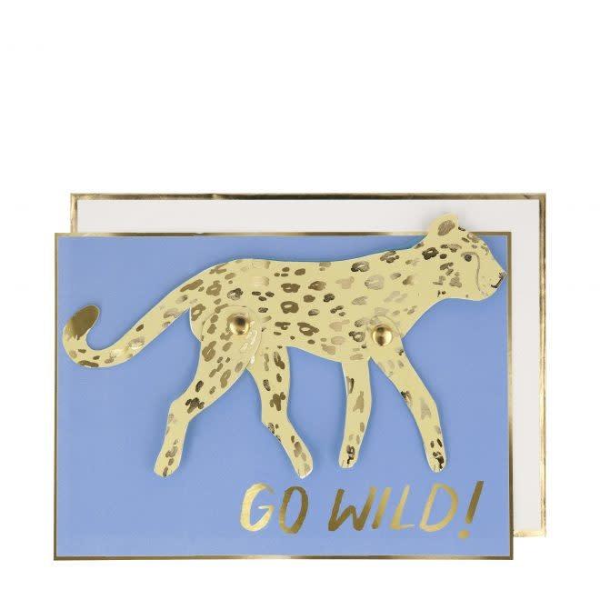 MERIMERI Running leopard card