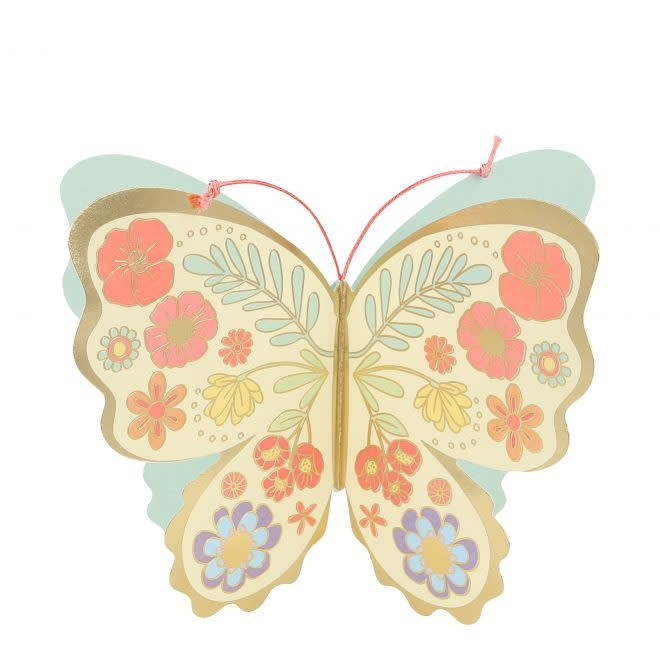 MERIMERI Floral Butterfly stand-up card