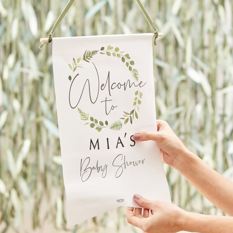 GINGERRAY CUSTOMISABLE BABY SHOWER WELCOME SIGN