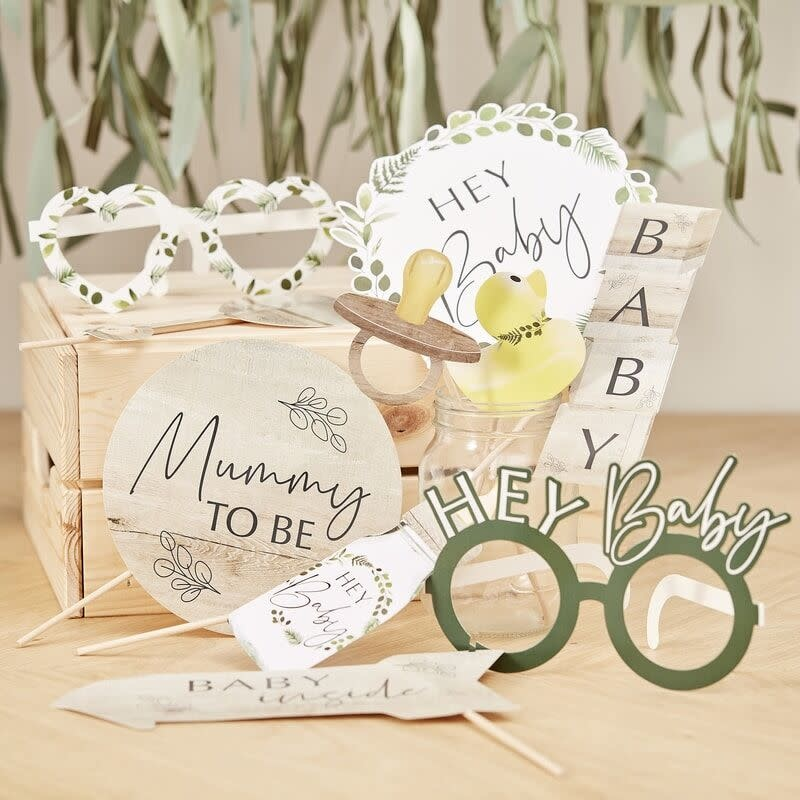 GINGERRAY BOTANICAL BABY SHOWER PHOTO BOOTH PROPS