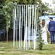 GINGERRAY WHITE RIBBON HANGING WEDDING BACKDROP