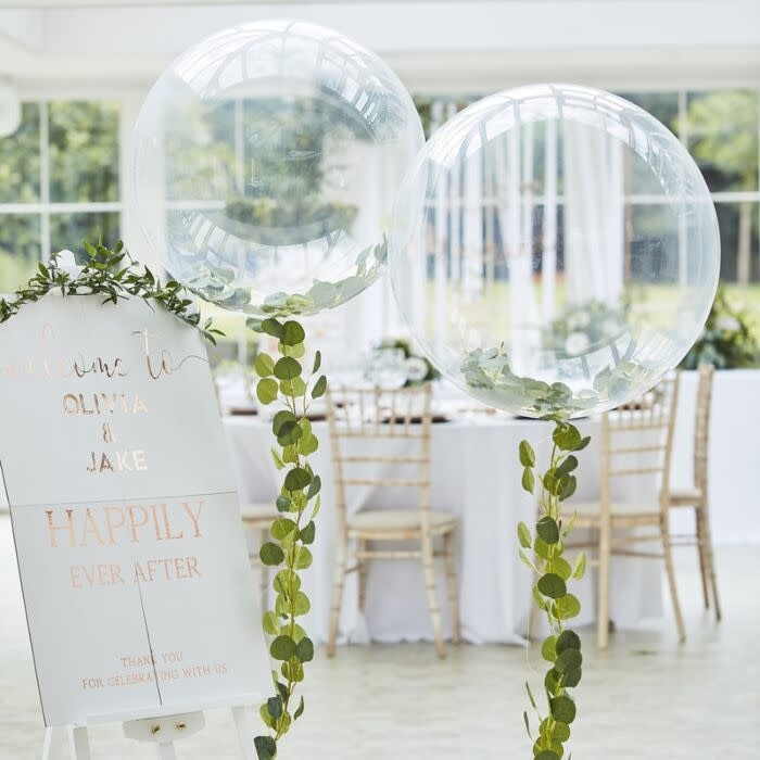 GINGERRAY ORB BALLOONS WITH VINE FOLIAGE