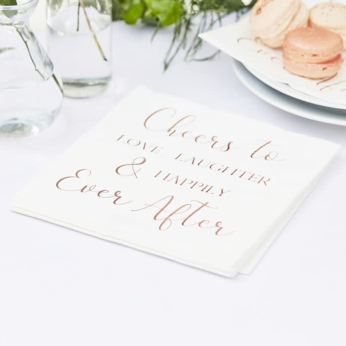 GINGERRAY HAPPILY EVER AFTER PAPER WEDDING NAPKINS