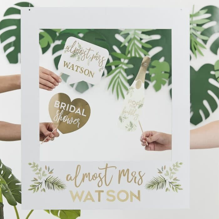 GINGERRAY BOTANICAL PERSONALISED HEN PARTY PHOTO FRAME