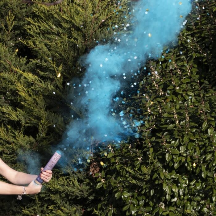 GINGERRAY BLUE GENDER REVEAL SMOKE CANNON WITH CONFETTI