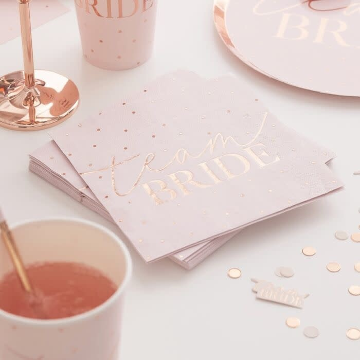 GINGERRAY ROSE GOLD FOILED HEN PARTY NAPKINS