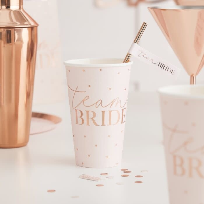 GINGERRAY ROSE GOLD TEAM BRIDE LARGE HEN PARTY CUPS