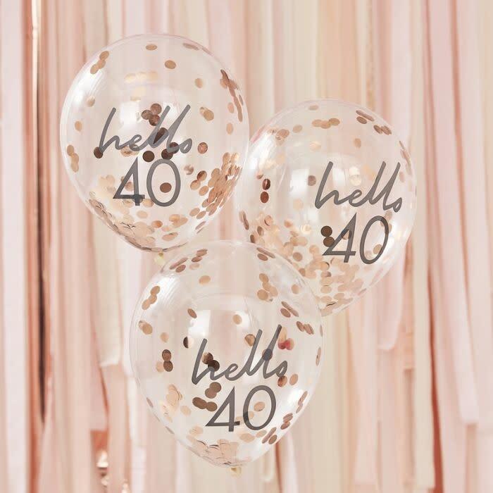 GINGERRAY HELLO 40 BIRTHDAY BALLOONS