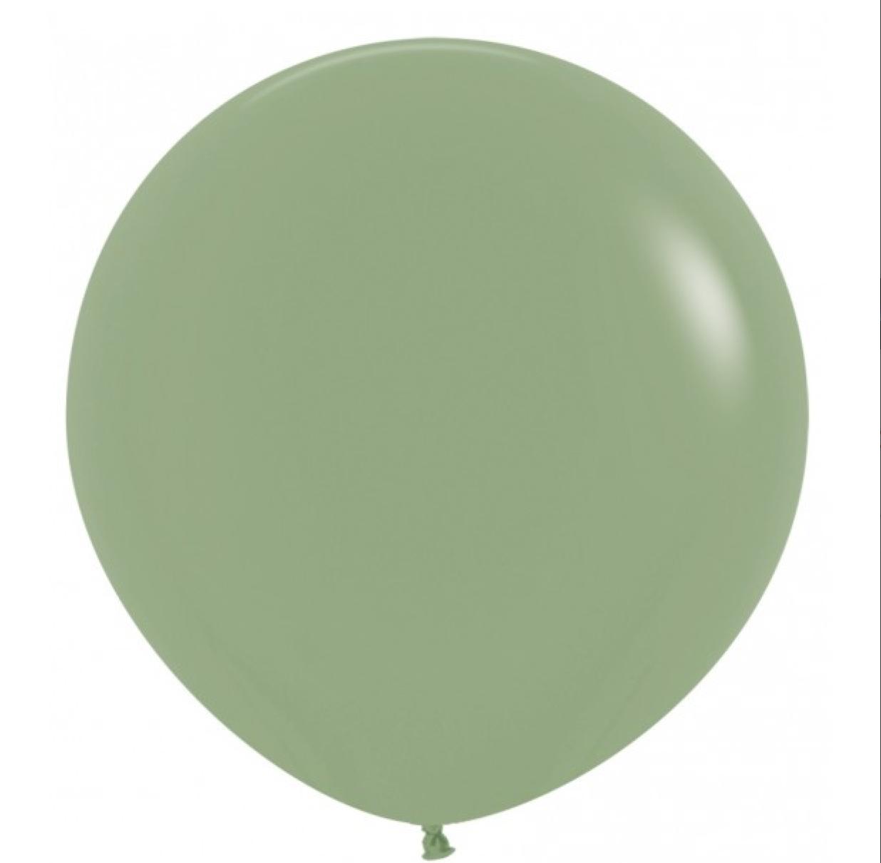 HH 1 round latex balloon eucalyptus 60 cm
