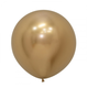 HH 1 round latex balloon shiny gold 60 cm