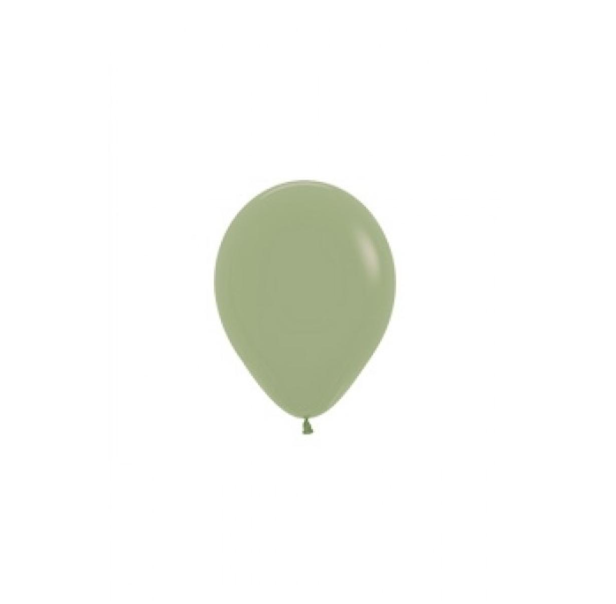HH 10 x mini latex balloons eucalyptus 12 cm
