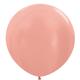 HH 1 round latex balloon peach 90 cm