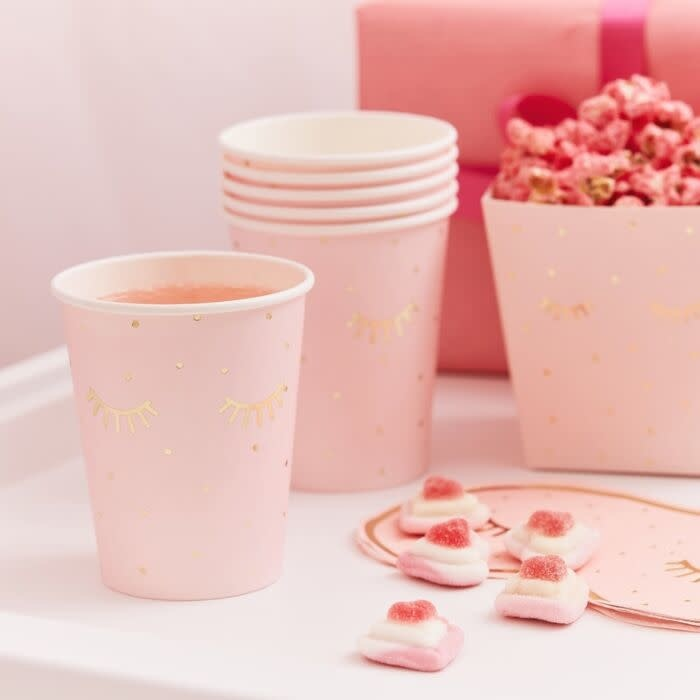 GINGERRAY PINK PAMPER PARTY PAPER CUPS