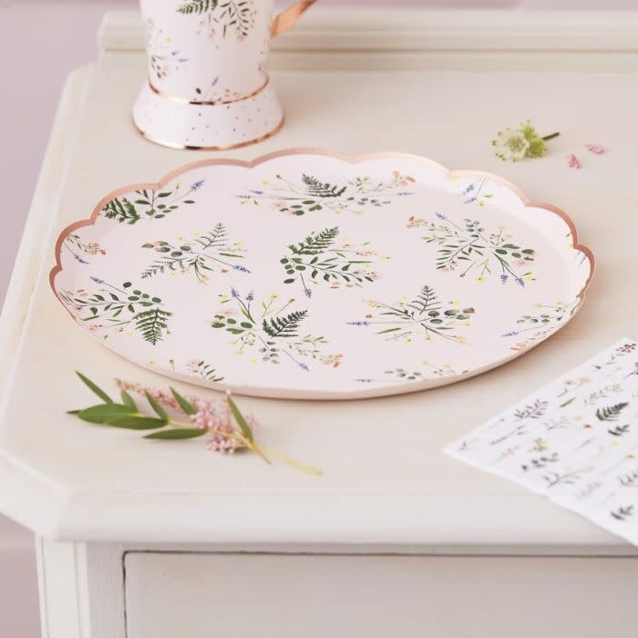 GINGERRAY FLORAL TEA PARTY PAPER PLATES