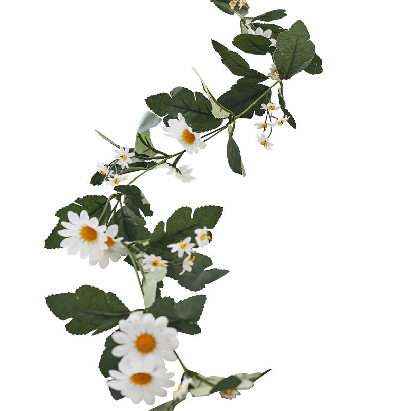 GINGERRAY DECORATIVE ARTIFICAL DAISY FLORAL EASTER GARLAND