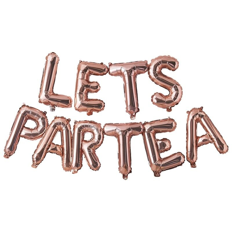 GINGERRAY LETS PARTEA AFTERNOON TEA PARTY BALLOON BUNTING