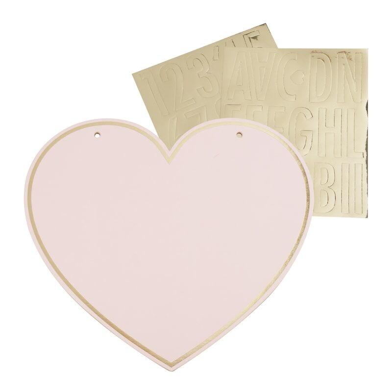 GINGERRAY CUSTOMISABLE PINK HEART KIDS TENT SIGN