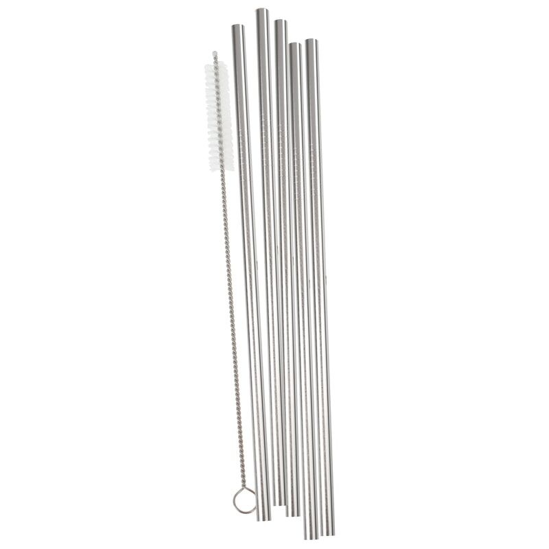 GINGERRAY SILVER STAINLESS STEEL STRAWS