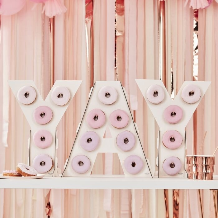 GINGERRAY YAY PINK OMBRE DONUT WALL STAND