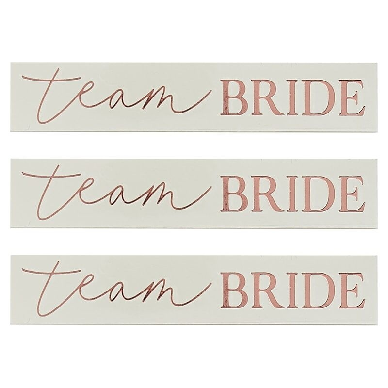 GINGERRAY ROSE GOLD TEAM BRIDE HEN PARTY TATTOOS