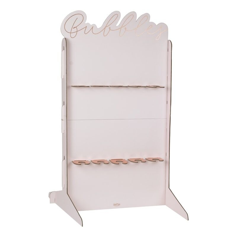 GINGERRAY ROSE GOLD FOILED & BLUSH PROSECCO WALL