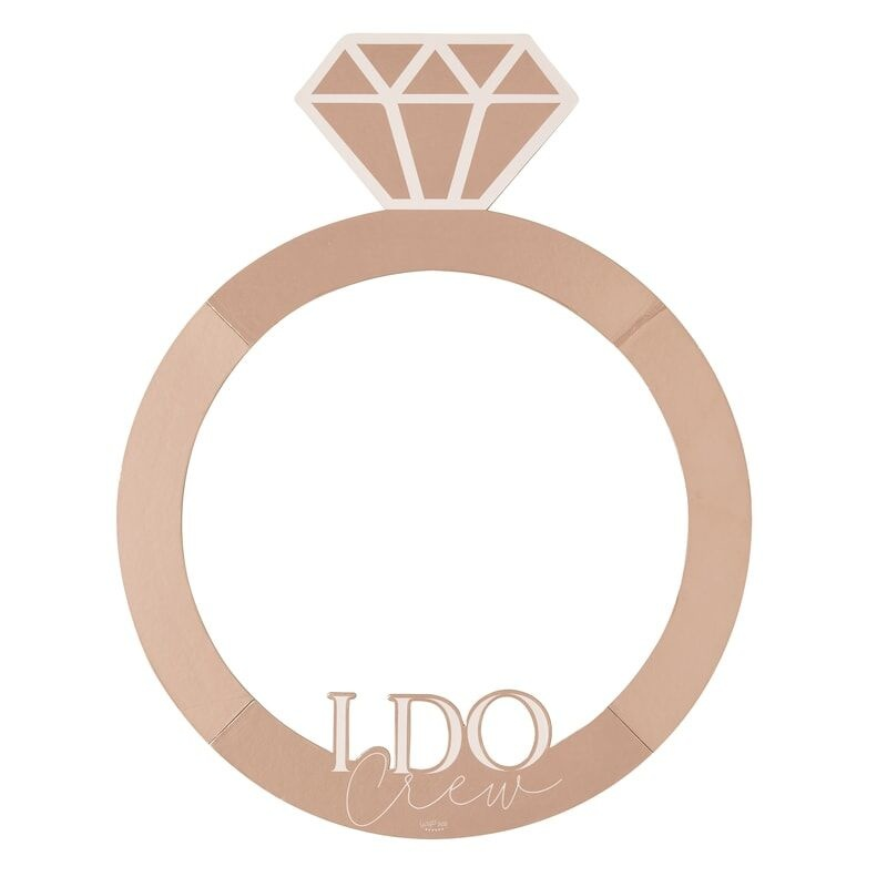 GINGERRAY ROSE GOLD RING HEN PARTY PHOTO BOOTH FRAME