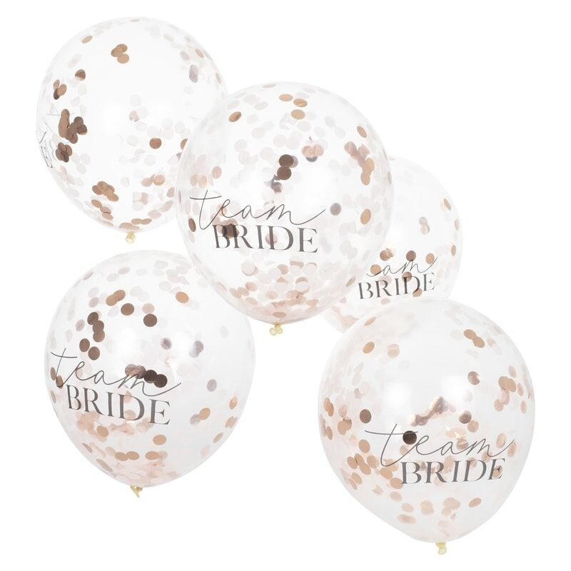 GINGERRAY CONFETTI FILLED TEAM BRIDE HEN PARTY BALLOONS
