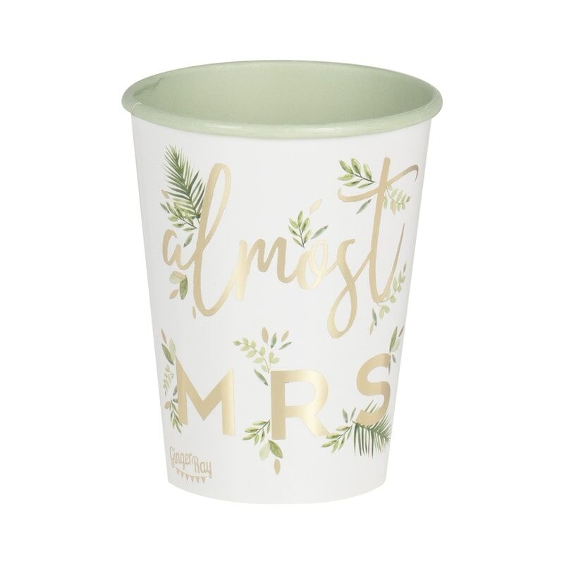 GINGERRAY GOLD FOILED ALMOST MRS PAPER HEN PARTY CUPS