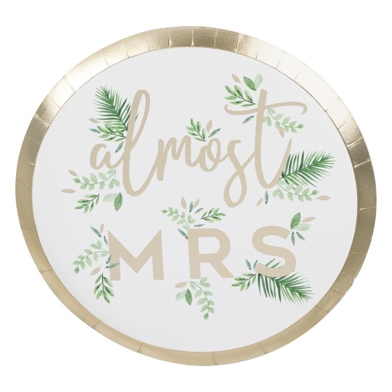 GINGERRAY GOIL FOILED ALMOST MRS HEN PARTY PLATES