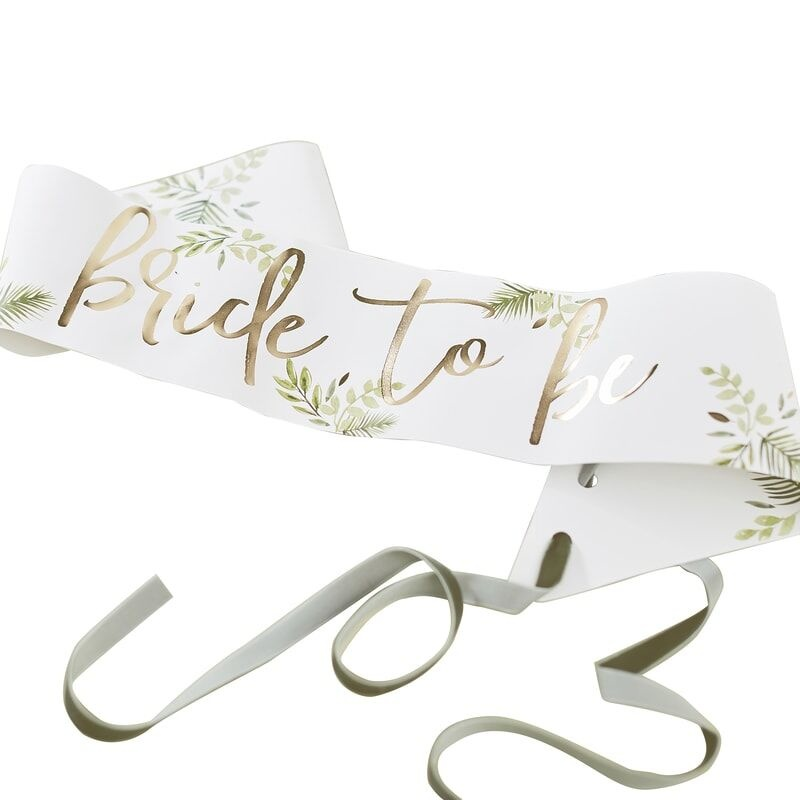 GINGERRAY GOLD FOILED BRIDE TO BE SASH