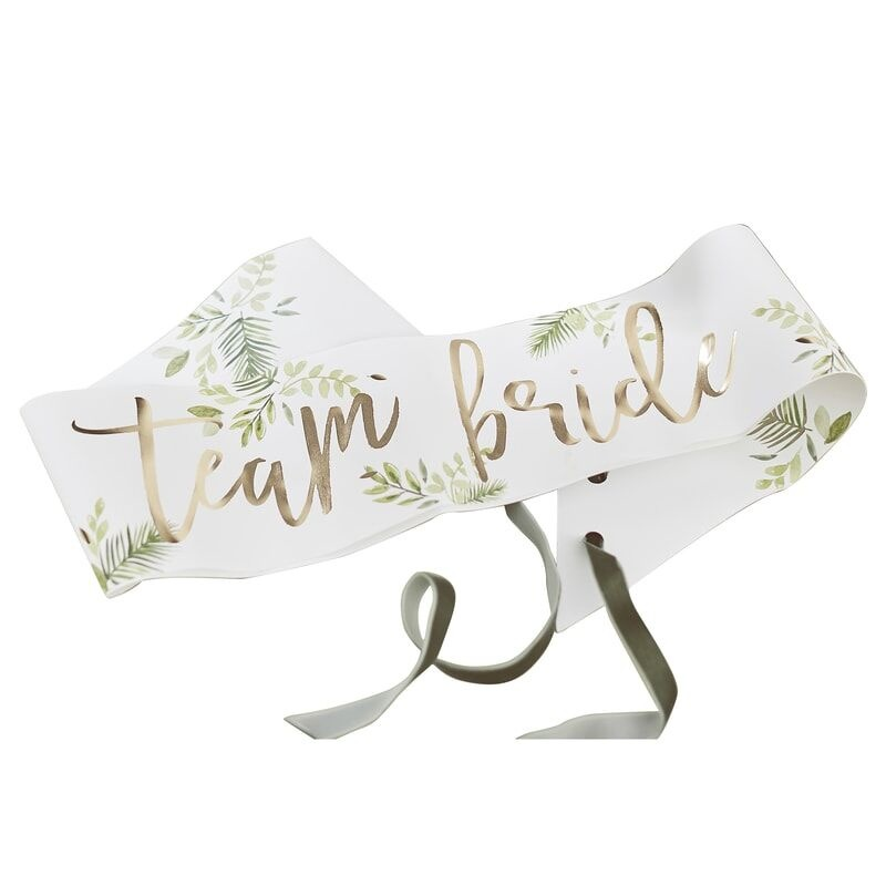 GINGERRAY GOLD FOILED TEAM BRIDE HEN PARTY SASHES