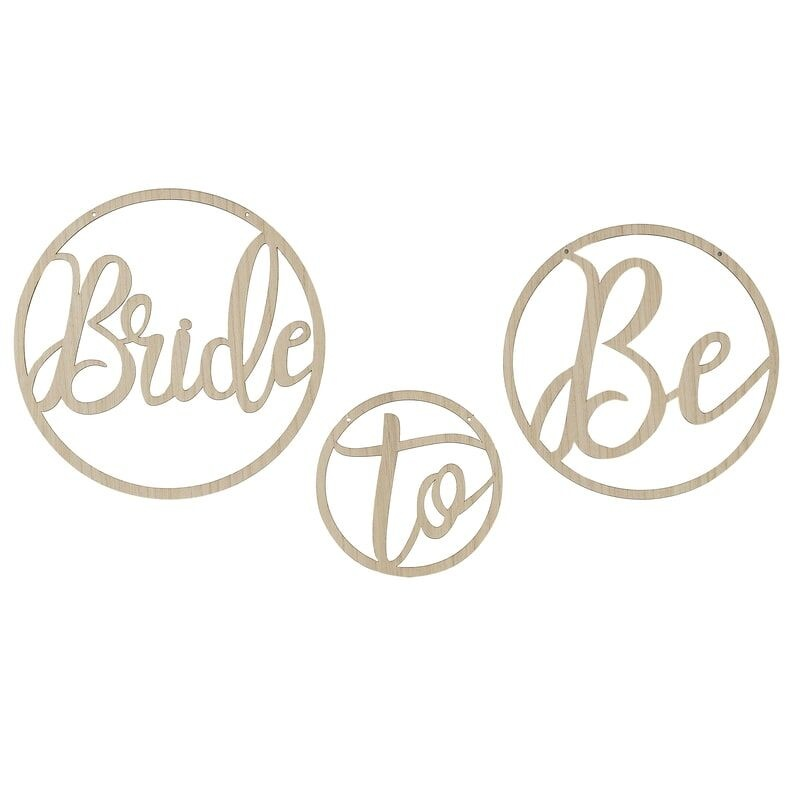 GINGERRAY WOODEN BRIDE TO BE DECORATION HOOPS