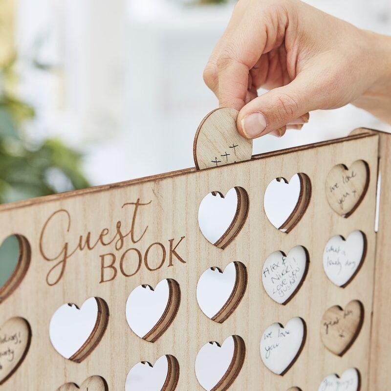 GINGERRAY FOUR IN A ROW WEDDING GUEST BOOK ALTERNATIVE