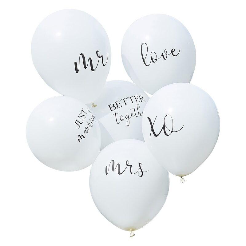GINGERRAY WHITE WEDDING BALLOONS BUNDLE