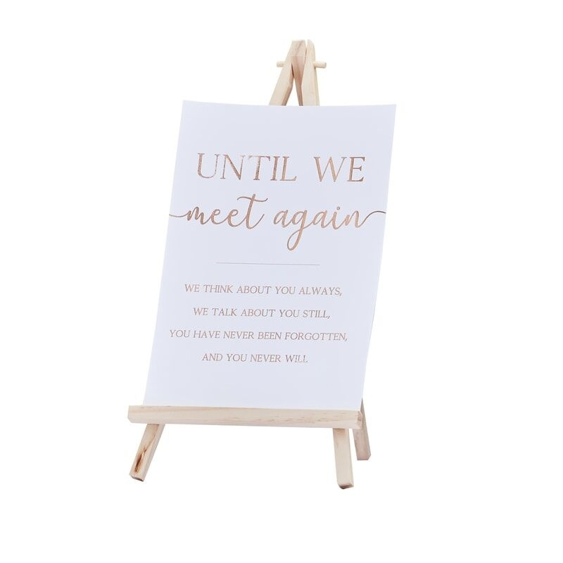 GINGERRAY UNTIL WE MEET AGAIN MEMORY WEDDING TABLE SIGN