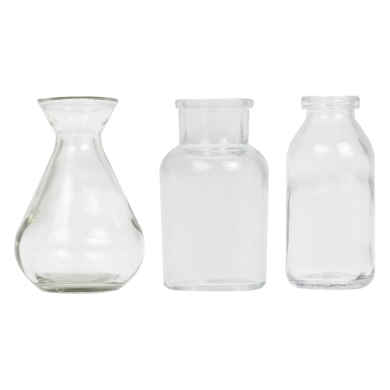 GINGERRAY ASSORTED GLASS MINI VASE SET